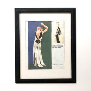 Vintage 1930's Fashion Framed Art